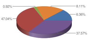 Pie chart from USAspending.gov