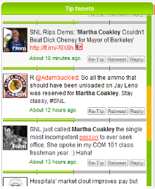 TipTop positive-rated search results for 'Martha Coakley'
